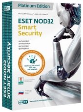 Антивирус ESET NOD32 Smart Security на 1 ПК, 2 года