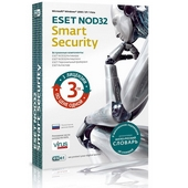 Антивирус ESET NOD32 Smart Security на 3 ПК, 1 год