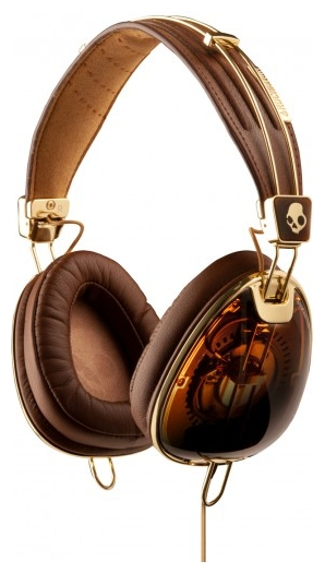 Наушники Skullcandy Aviator Brown/Gold - All-USB.ru